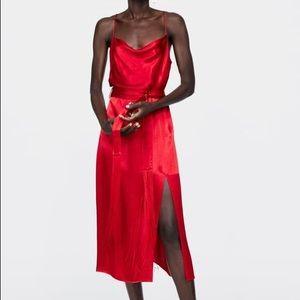 NWOT Zara Slip Dress with Fringe